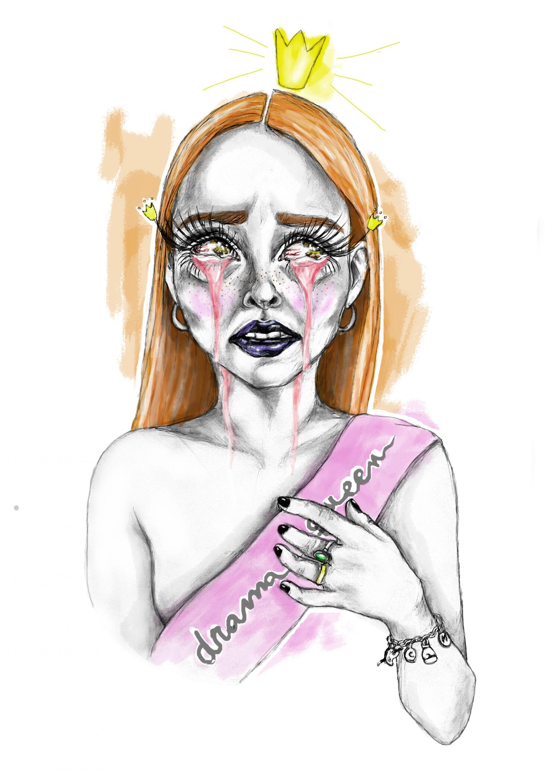 Drama queen stamina ilustracion sara sanchez un mal trago libro