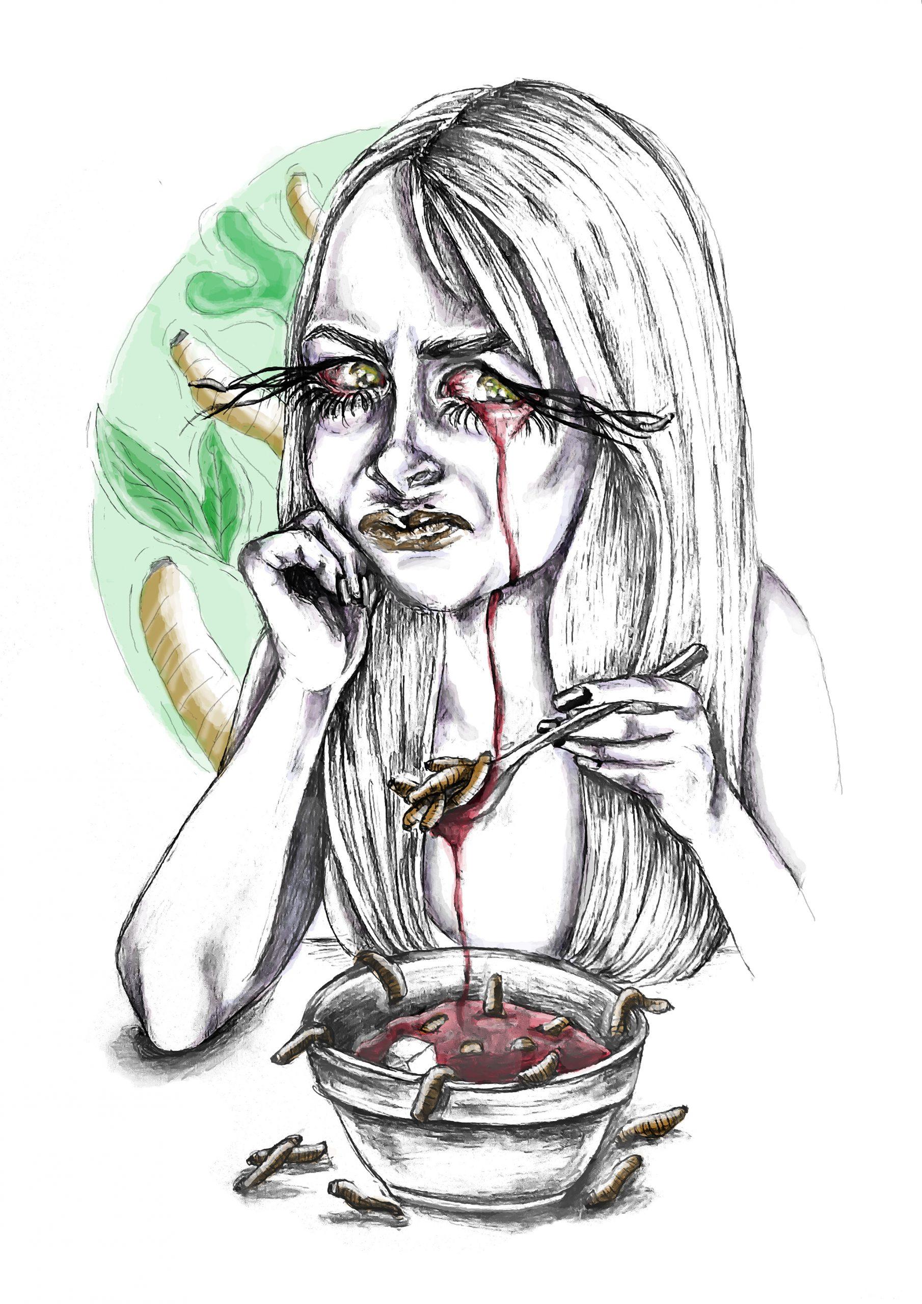 Falta de apetito stamina ilustracion sara sanchez un mal trago libro