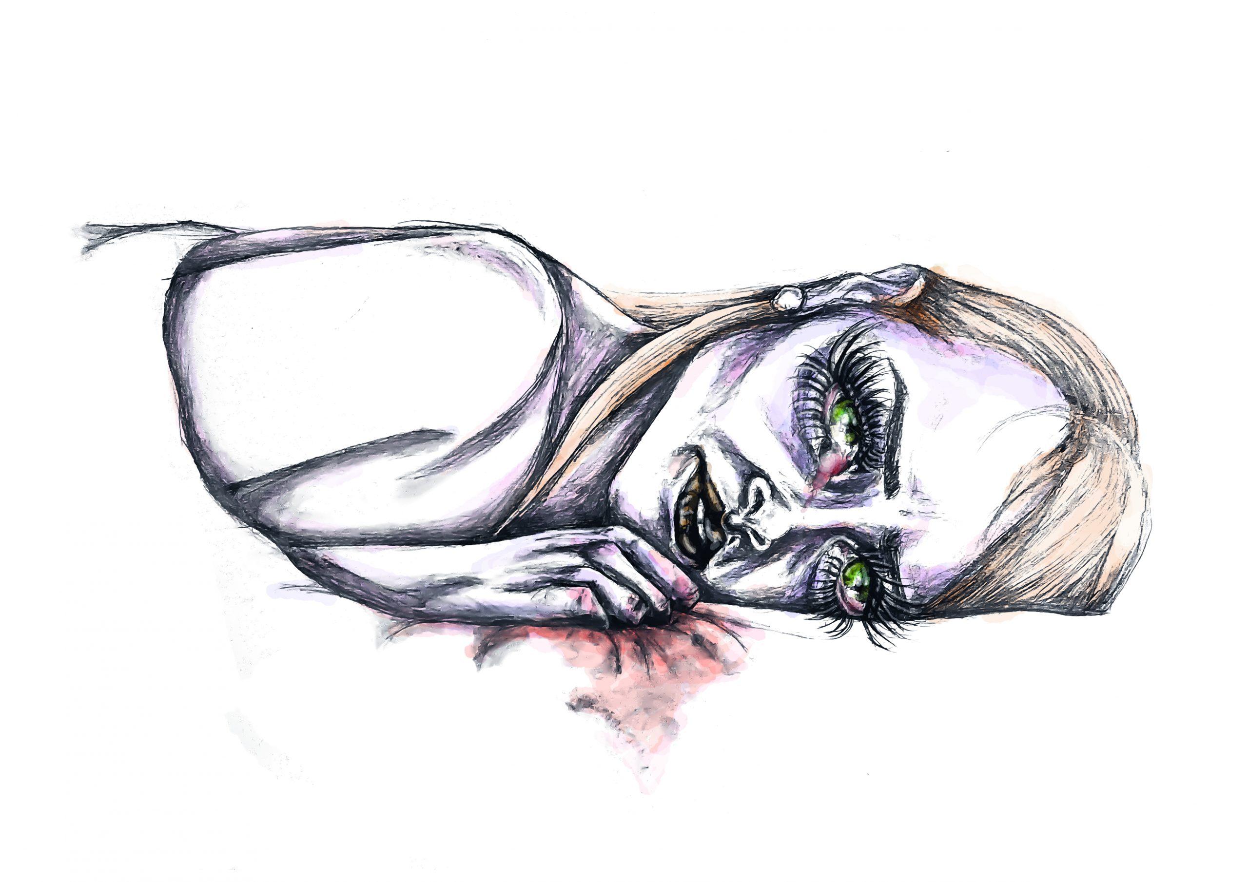 Insomnio stamina ilustracion sara sanchez un mal trago libro