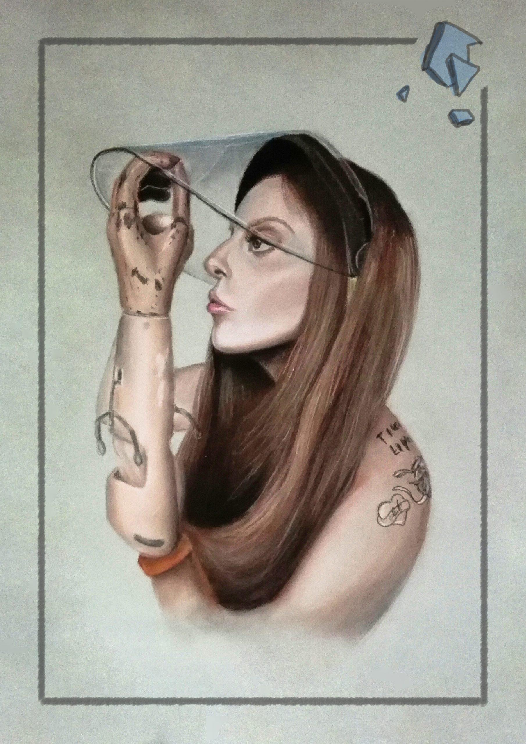 Lady Gaga staminamandarina Sara Sánchez retrato